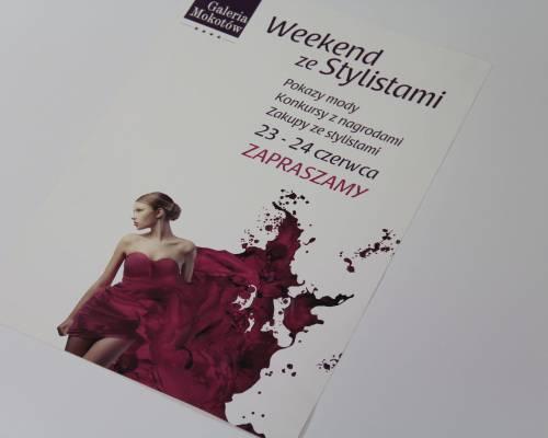 Druk plakatów w Warszawie - plakat wydarzenia Weekend ze stylistami