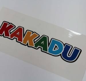Wydrukowana w Warszawie naklejka dla firmy Kakadu
